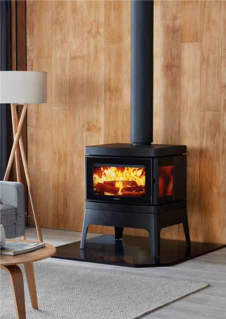Wood heaters that perform with high efficiency and low emissions