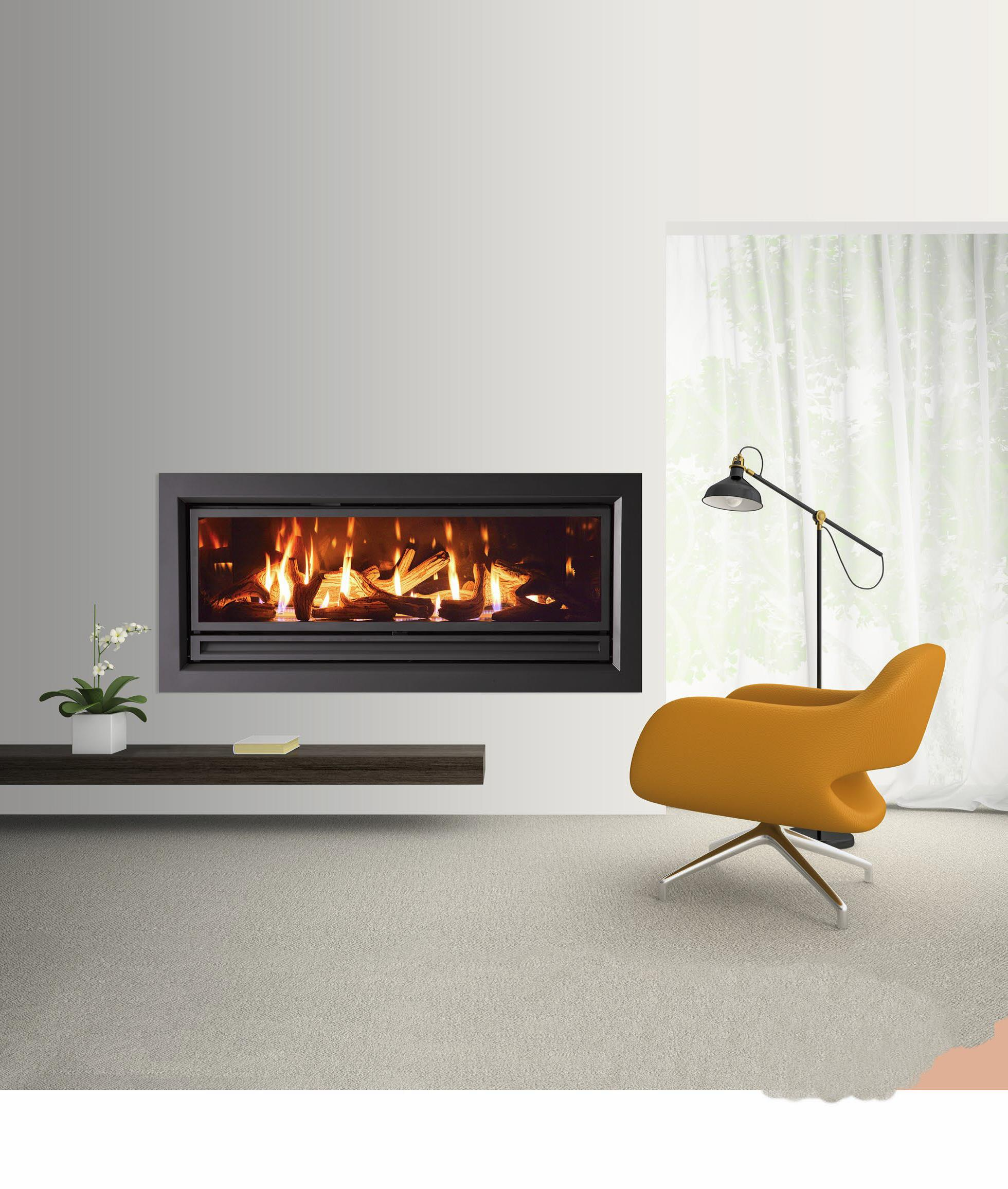 Archer Series 1500 Gas Fireplace Heats 220m2